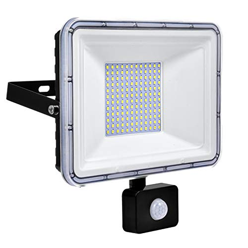 100W Foco LED Exterior con Sensor Movimiento, IP67 Impermeable Proyector LED Exterior...