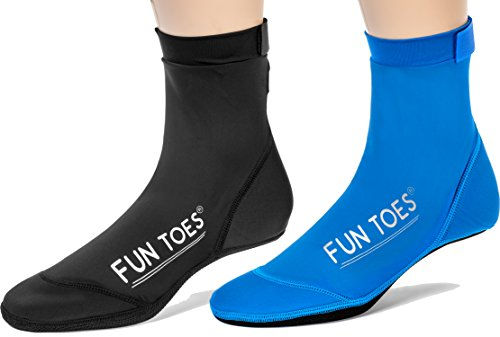FUN TOES 2 Pairs BEACH SOCKS for Volleyball...