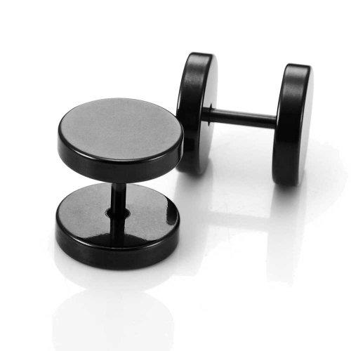 Pendientes de Ronda Barbell parte posterior del tornillo del oído Juego de...
