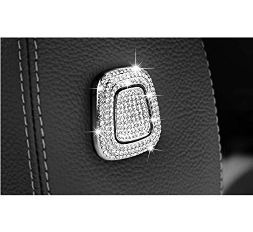 Bling Accessories - Corno per poggiatesta per Mercedes Benz Classe C Classe E GLC per interni automobilistici (4 pezzi)