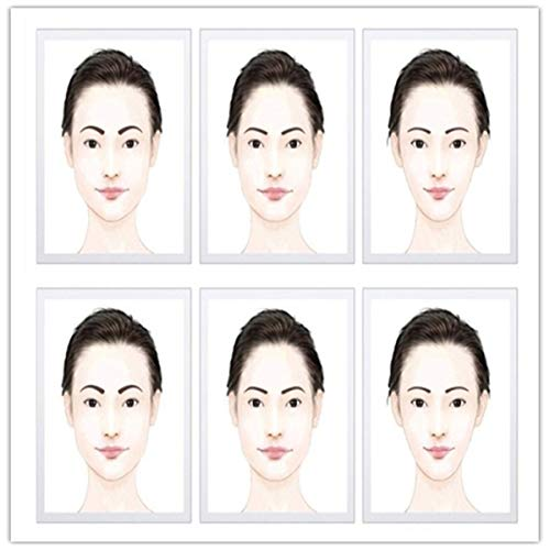 Winwinfly 12 Styles Kit Sourcils Toilettage Pochoir Modele Maquillage faconnage outils de bricolage Pochoirs à Sourcils