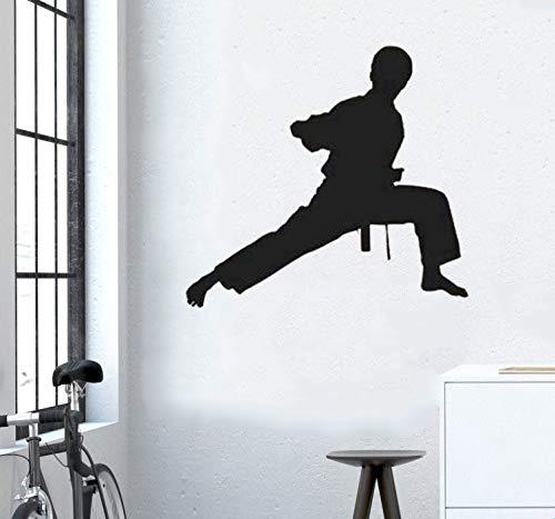 Sport Wandtattoo Karate Kung Fu Sport Martial Arts Kämpfer für Gym Hintergrund Dekor Abziehbilder Schlafzimmer