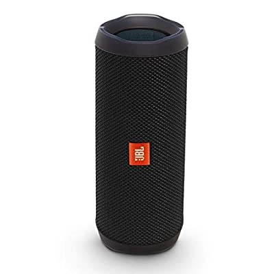 JBL Flip 4 Portable Bluetooth Speaker with Rechargeable Battery, Waterproof, Siri and Google Compatible - Black by Harman International Industries LTD.