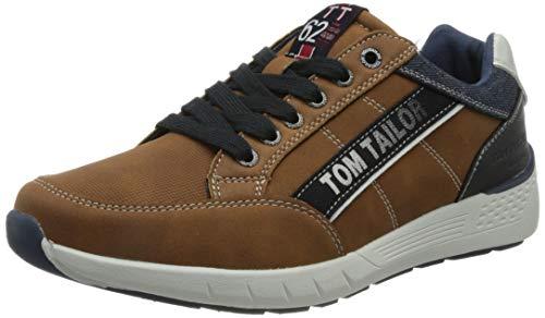 TOM TAILOR Herren 1182405 Sneaker, Cognac, 43 EU