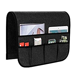 in budget affordable SyMax sofa armrest storage organizer, non-slip chair caddy for lounge chair with 6 pocket chairs …