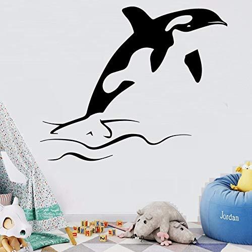 wZUN Etiqueta engomada de la Pared del delfín Etiqueta de la Pared del Arte del Dormitorio de la Sala de Estar Etiqueta engomada de la Pared de la Moda Mural 50X43cm