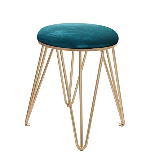 LIHUAN Make-up Hocker Einfache Moderne Stuhl Schlafzimmer Nach Hause Kleinen Ankleidehocker,Blue