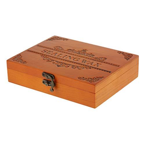 SDENSHI Caja de Almacenamiento Vacía para Sellar Palitos de Cera Juego de Kit de Regalo de Inicio de Sello de Cuchara