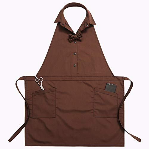 Sheuiossry Apron Korean Fashion Men and Women Overalls with 2 Pockets for Home Kitchen Garden Workbenches Restaurant Painting DIY BBQ
