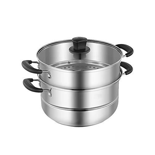 Cuiseur à vapeur en acier inoxydable - Méthode de cuisson saine des légumes - 2 couches 26 cm