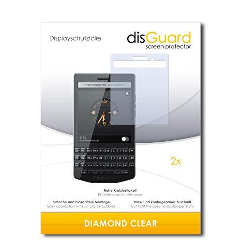 disGuard 2 x Bildschirmschutzfolie BlackBerry Porsche Design P9983 Schutzfolie Folie DiamondClear unsichtbar