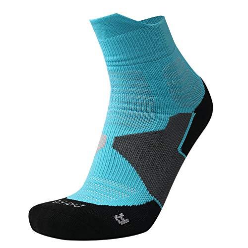 Vobery Calcetines para Correr,Calcetines Deportivos Deportivos de Baloncesto para Jóvenes,Niños Y Niñas,Calcetines para Caminar Transpirables con Cojín de Algodón Premium para Hombres(Azul