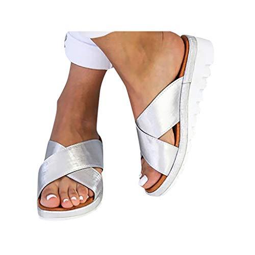 Why Choose Women's Flats Wedges Platform Sandals Comfy Open Toe Beach Travel Shoes Heel Massage Soft...