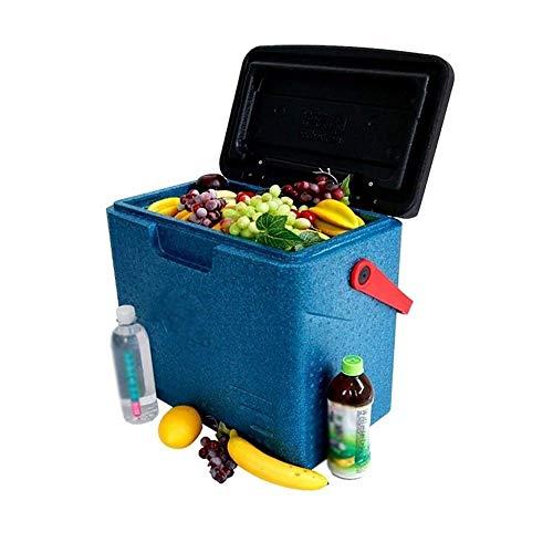 YANGYUAN Coche al aire libre Nevera - Pesca Barbacoa fresca de plástico barril Caja del refrigerador portátil de conservación de alimentos del congelador cubo de hielo que se pueden también utilizar f