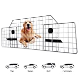 Adakiit Dog Barrier for SUV Car & Vehicles, Adjustable Pet Barrier Car Gate Universal Fit Wire Mesh Dog Car Guard - Car Divider for Dogs Pets SUVs with Upgraded Design