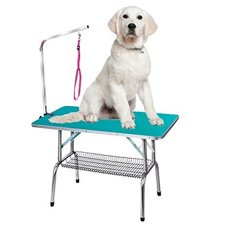 Opvouwbare roestvrijstalen huisdierverzorgingstafel voor draagbare operationele tafels voor kleine huisdieren met rubberen oppervlak en roostervak. 115 cm