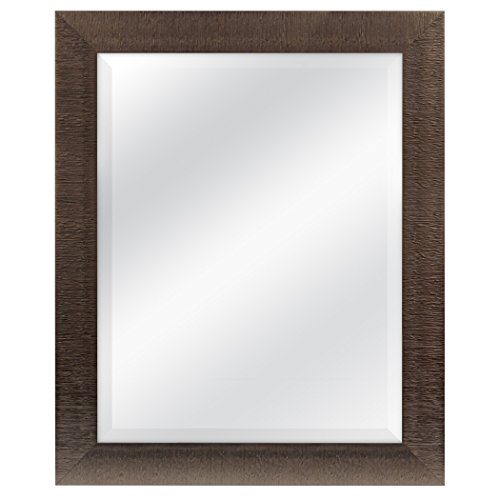 MCS 22x28 Inch Textured Mirror, 27.5x33.5 Inch Overall Size, Bronze -