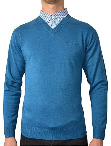 Pierre Cardin Pull en tricot avec col en V pour homme - Beige - XXL