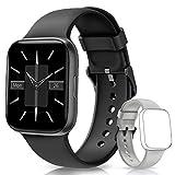 BANLVS Smartwatch, Reloj Inteligente Impermeable IP68 Pantalla Táctil de 1.54' con Pulsómetro, Monitor de sueño, Notificaciones Inteligentes,Podómetro Pulsera Actividad Inteligente para Hombre y Mujer
