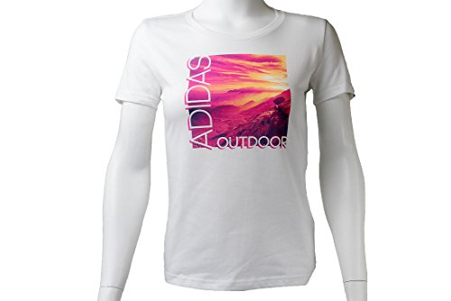 adidas Adi Landscape Tee T-Shirt, Verde Ai5930, XS Donna