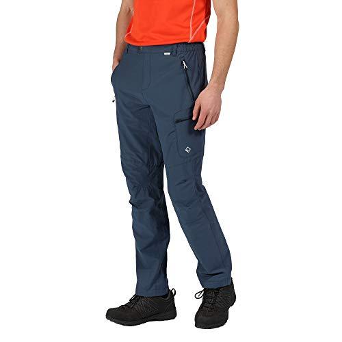 Regatta Highton' Active Stretch Walking Long Length Hiking Pants Men, Dark Denim, 36\