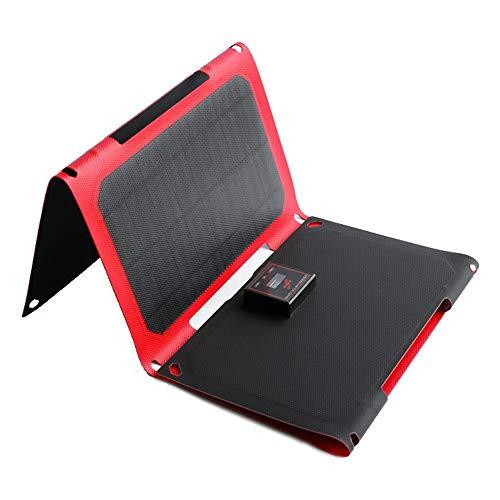 BAYUE Maleta Solar portátil monocristalina Plegable de 25W 12V, Cargador Solar, Cargador Solar Plegable para Exteriores con Panel Solar