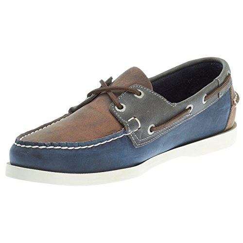 Sebago Men's Spinnaker Boat Shoe, Brown/Navy/Grey, 11.5 M US