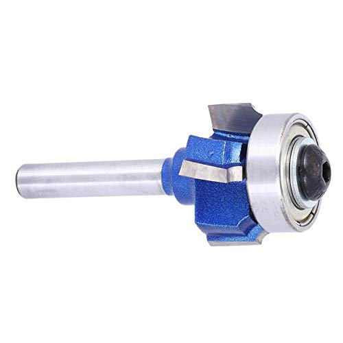 Woodworking Milling Cutter Tools, for Sharp Cutting Edges Stable Performance Round Router Bit for Wood Grooving Electric Trimmers Engraving Machines(Four-blade edge banding knife 8XR2)