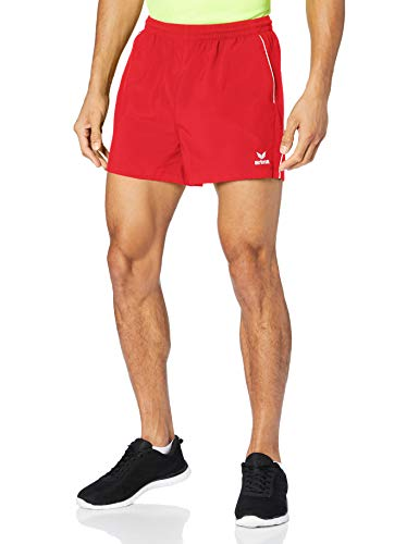 Erima 1090704 Short Homme, Rouge/Blanc, FR (Taille Fabricant : XXXL)