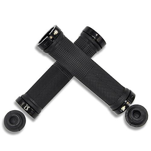 Empuñadura para manillar de bicicleta Labego, doble sistema de bloqueo, de aluminio