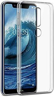 Nokia 5.1 Plus (Nokia X5) Silicone TPU Case Cover Soft - Clear