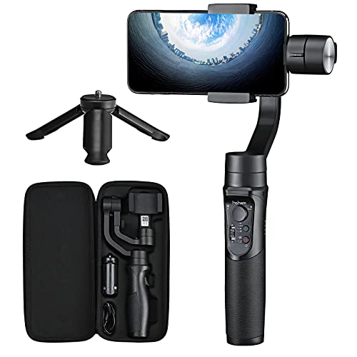 Smartphone Gimbal Stabilizer – Hohem 3-Axis Gimbal Stabiliser with Sports Mode, Smart Tracking, Time Lapse, 3600 mAh Battery, Waterproof for iPhone...