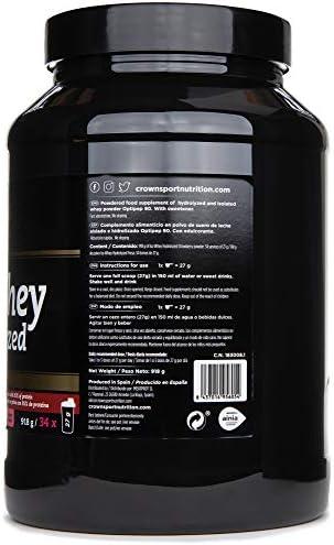 Crown Sport Nutrition ISO Whey Hydrolyzed Optipep 90, Proteína de Suero de Leche, Suplemento para Deportistas, Sabor de Fresa - 918 g
