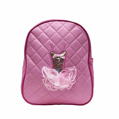 Princess Quilted Tutu Dance Backpack, Light Pink