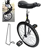 Nisorpa 20 Inch Single Wheel Unicycle for Kids Adults, Outdoor Fitness Unicycle with Stand/Comfort Saddle Seat Adjustable Height,...