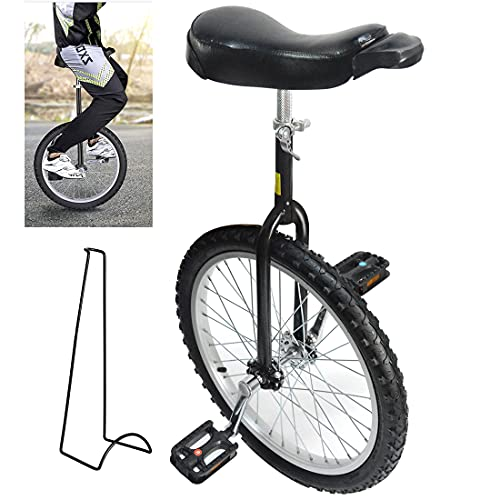 Nisorpa 20 Inch Unicycle for Kids and Adults with Stand - 20' Youth Kids Bicycle Adult Unicycles for...