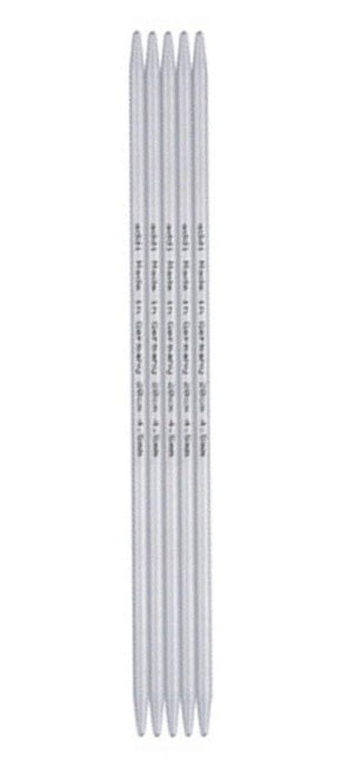 addi Double Pointed Aluminum 8-inch (23cm) Knitting Needles (Set of 5); Size US 10 (6.00 mm)