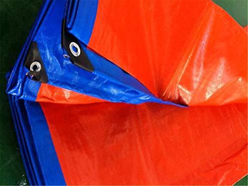 Zuzanny dekzeil blauw en oranje waterdicht uv resistente slijtvaste dekzeil luifel stof multifunctionele boten aannemers campers cover 8mx10m
