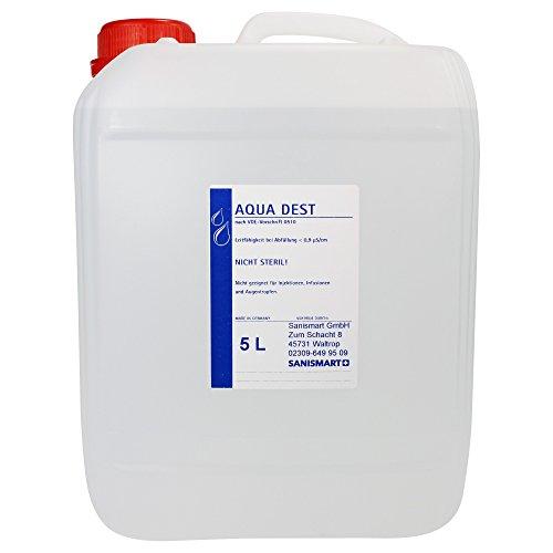 Aqua Dest - Agua destilada para laboratorio, diferentes tamaños, 5 L