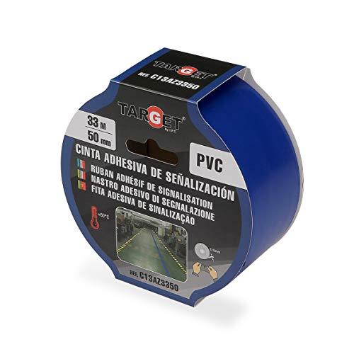 Cinta de señalización - TARGET - Cinta adhesiva - Suelo - Marcar - Advertencia - Señalización de seguridad - Alta calidad - Azul 33m x 50mm - C13AZ3350 🔥