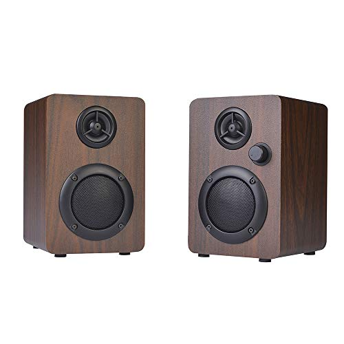 USB PC Lautsprecher Set, 10 Watt Holz Handgemacht 2.0 Stereoklang, mit 3,5 mm USB-Stromversorgung Intelligente Geräuschreduzierung Der Lautstärkeregler Mini-Lautsprecher Perfekt für TV, PC, Notebook