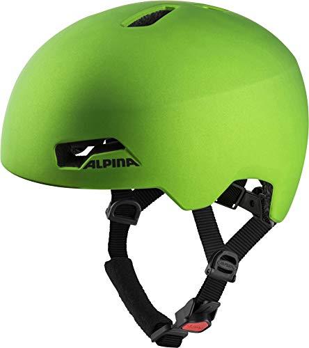 ALPINA Unisex - Kinder, HACKNEY Fahrradhelm, green frog, 47-51 cm