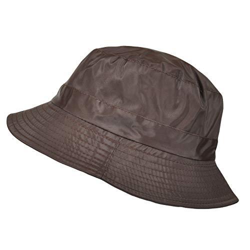 TOUTACOO, Sombrero, Gorro para la Lluvia en Nailon, T.U +/-58 cm Marrón Talla L