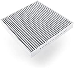 Cabin air filter (1-pack, gray) works with a vehicle's ventilation system to create cleaner inside air. Measures 9.76 by 9.17 by 1.18 inches
