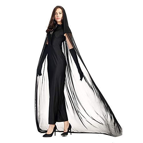 Costour Damen Kostüm für Karneval Halloween Zombie Braut Halloween Vampir Kostüm Dress Set
