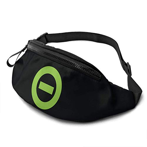 AOOEDM Tipo O Negativo Casual Riñonera Fitness Belt Bag Hombres Mujeres
