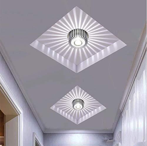 Moderne Korridor Veranda Licht, kreative Deckenleuchten, bündig montiert Sonnenblume Wandleuchten, Asile Lichter [Energieklasse A+++] (3w Weiß)