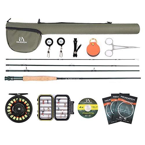 M MAXIMUMCATCH Maxcatch Extreme Graphite Fishing Rod 4-Piece 9 Feet...