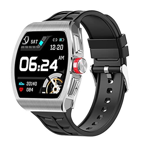 lizeyu Reloj Inteligente TK18 Deportes Bluetooth Llamada Pulsera Impermeable Gris Plateado