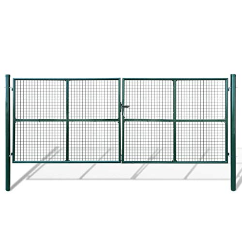 Preisvergleich Produktbild vidaXL Gartentor Zauntor Gitterzaun Tor 415 x 200 cm / 400 150